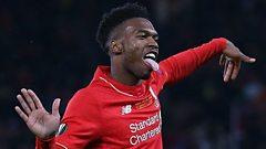 Daniel Sturridge celebrates a goal for Liverpool
