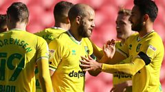 Norwich celebrate goal