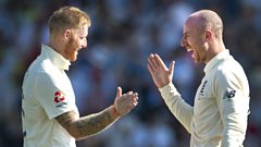 Ben Stokes and Jack Leach