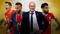 Robert Lewandowski, Neymar, Zinedine Zidane and Mohamed Salah