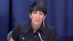 Ghislaine Maxwell speaks at a news conference about oceans and sustainable development at the United Nations in New York in 2013