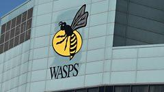 Wasps sign at stadium