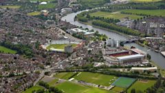 Trent Bridge area of Nottingham