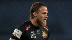 Jonny Hill playing for Exeter