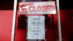 Shop closed due to coronavirus sign