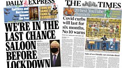 Daily Express and The Times front pages