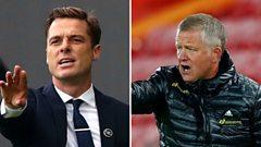 Fulham boss Scott Parker and Sheffield United's Chris Wilder