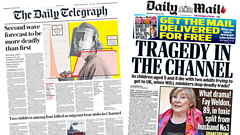 Daily Telegraph and Daily Mail front pages