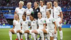 England women squad at the World Cup last year