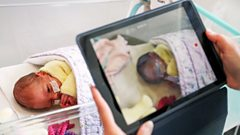 A nurse makes a video for new parents because of restricted visiting hours - Surrey, May 2020