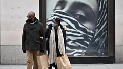 Shoppers wear face masks on Oxford Street, London