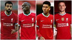 Mohamed Salah, Sadio Mane, Roberto Firmino, Diogo Jota