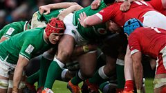 An action short from Ireland v Wales in February