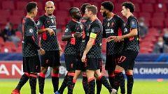 Liverpool players celebrate