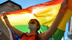 Polish LGBT rights protester