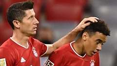 robert Lewandowski and Jamal Musiala