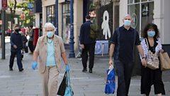 Shoppers in Newport