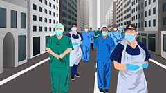 NHS on the road to winter illustration