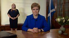 Nicola Sturgeon reflects on the first six months since Scotland went into coronavirus lockdown.