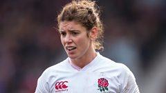 Sarah Hunter frowning