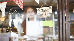 A woman closed her cafe