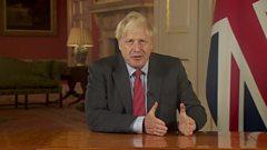 Boris Johnson giving his address