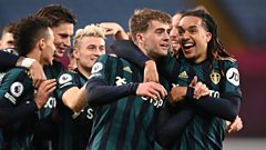 Patrick Bamford (centre) is congratulated by Leeds team-mates