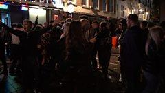 Crowds in Nottingham