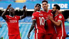 Liverpool celebrate goal against Chelsea