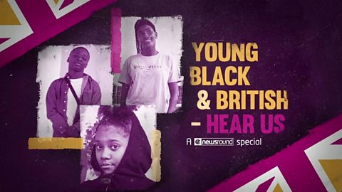 Special graphic showing the three teens in Young Black and British.