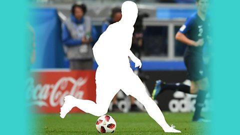 Silhouette of Chelsea player Eden Hazard