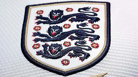 England national football team's three lions badge