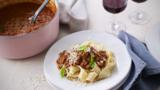 Bolognese ragù with pappardelle