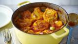 Chicken casserole with potato cobbler