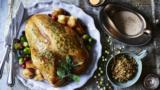 Turkey crown and stuffing