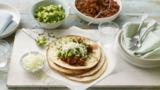 Smoked chilli pork tacos with apple and avocado salsa