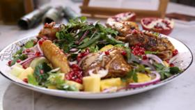 Honey Glazed Guinea Fowl With Pomegranate And Pineapple