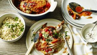 Chicken tagine recipes bbc food moroccan style chicken with couscous and yoghurt forumfinder Choice Image