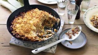 mushroom and parsnip rsti pie - Vegetarian Christmas Entree