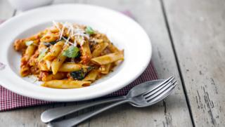Bbc food recipes lemon chicken penne with spicy tomato and mozzarella sauce forumfinder Choice Image