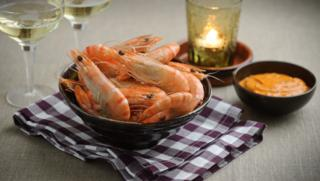 Easy dinner party recipes bbc food prawns with spicy dipping sauce forumfinder Choice Image
