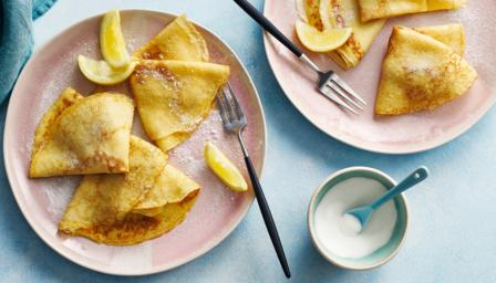 Bbc food recipes basic pancakes with sugar and lemon forumfinder Gallery