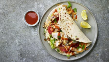 Chicken Kebab Wrap Recipe Bbc Food