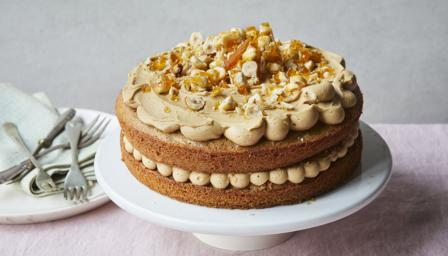 Coffee and praline cake recipe