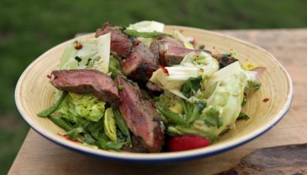 Highland beef salad