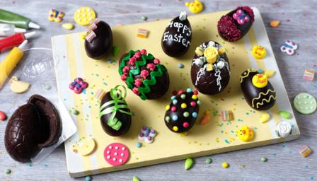 Homemade chocolate Easter eggs recipe - BBC Food