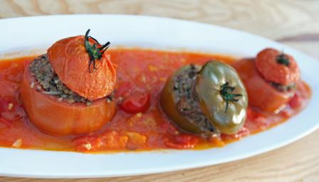 Isle of Wight stuffed tomatoes