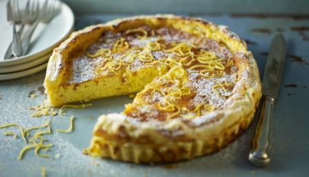 Image result for lemon ricotta tart