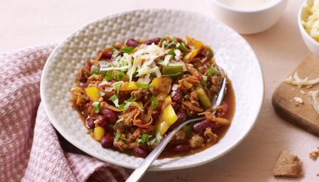 Easy veggie chilli recipe bbc food forumfinder Choice Image