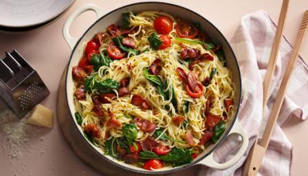 One-pot bacon pasta